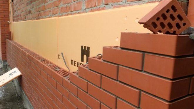 утепление стены под облицовочным кирпичом