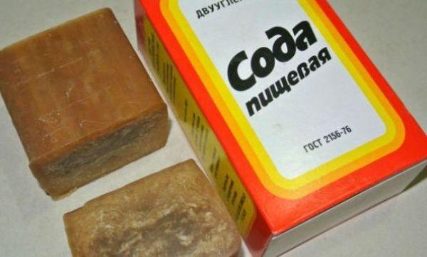 Сода и хозяйственное мыло - вместе сила. Фото с сайта znaniyapolza.ru